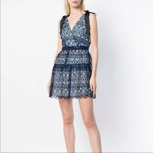 Dresses & Skirts - NWOT Navy lace tiered self portrait style dress